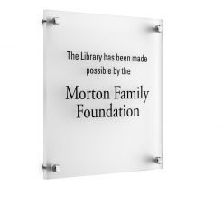 Moderna Acrylic Donor Recognition Plaque