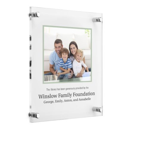 Custom Photo Plaques - Acrylic Donor Plaque - Picture of Family