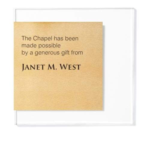 Donation Plaque - Brass and Acrylic Donor Plaque - Donor Plaques are a great way to increase visibility to your fundraising campaign.