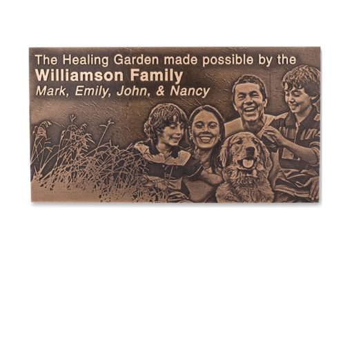Bronze Plaques -Bronze Plaque With An Image - Cast an image and text into bronze; it is best used for memorial plaques or donor recognition plaques.