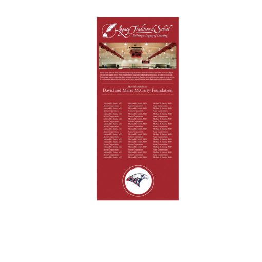 Insert For Easy Frame Donor Wall - This donor recognition option is economical an the best solution for donor campaigns that need to be updated annually.