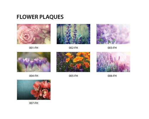 Flower Plaques - Donor Recognition - Choose a beautiful image to create a creative donor recognition to thank your donors for their contributions to your foundation.