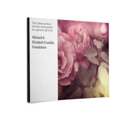 Custom Plaques - Flower Image - Donor Plaque
