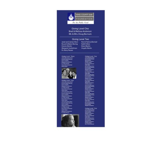 Insert For Easy Frame Donor Wall -Every insert for our Easy Frame Donor Wall is customized to your organizations brand and needs. This donor recognition option is economical an the best solution for donor campaigns that need to be updated annually.