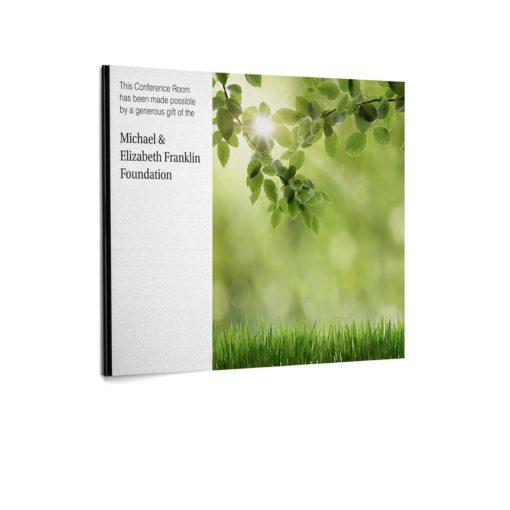 Custom Plaques - Landscape Image - Donor Plaque
