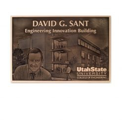 Cast Bronze Image Plaque