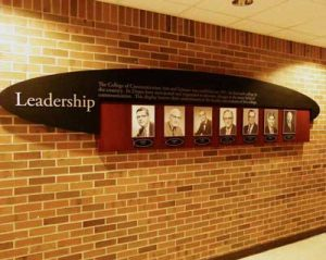 Michigan State University - Leadership Display - This is a leadership display for Michigan State University. The design compliments the donor recognition displays across the university.