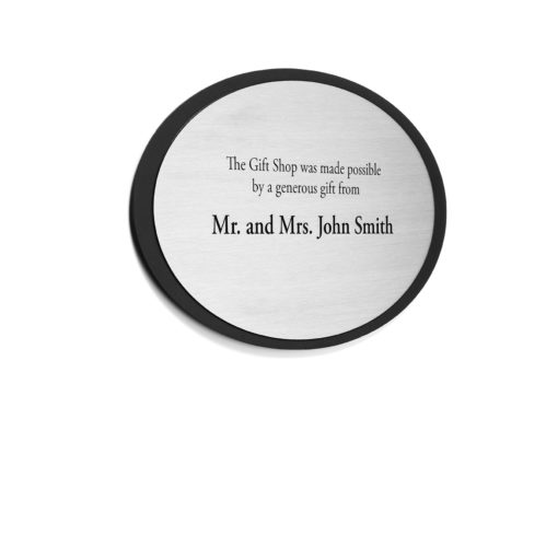 Silver Etched Donor Plaque - Thank your donor by etching their name into a sophisticated plaque. Great for theatre, museums and any other foundations looking to recognize their donors.