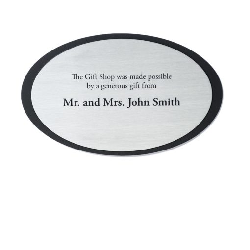 in memory plaques - Etched Silvertone Donor Plaque - a sophisticated plaque. Great for theatre, museums and any other foundations looking to recognize their donors.