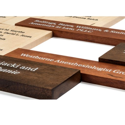 Donor Walls Recognition Displays - Wood Updatable Donor Wall