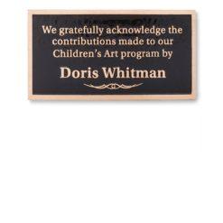Bronze Donor Plaque