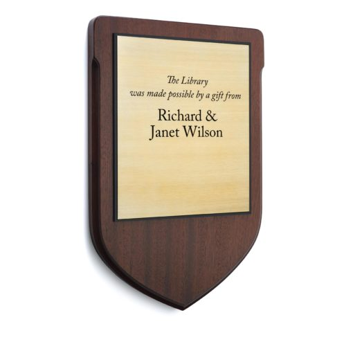 wood recognition plaque