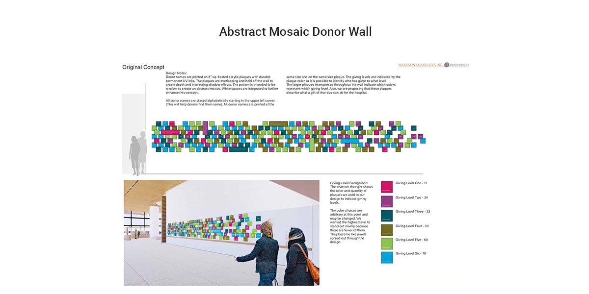 Abstract Mosaic Donor Wall Idea