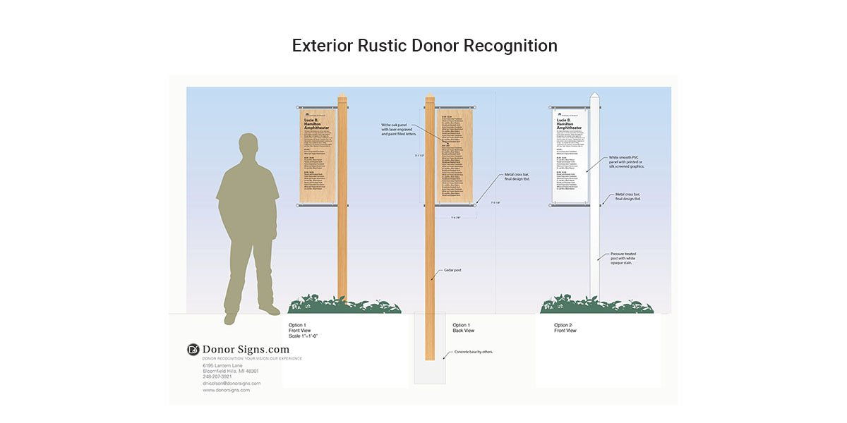 Exterior Rustic Donor Recognition