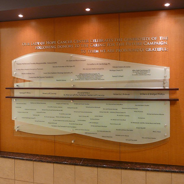 Healthcare-custom-donor-wall
