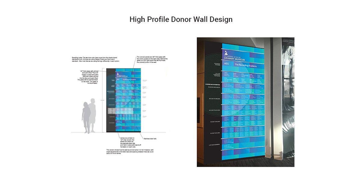 High Profile Donor Wall Design