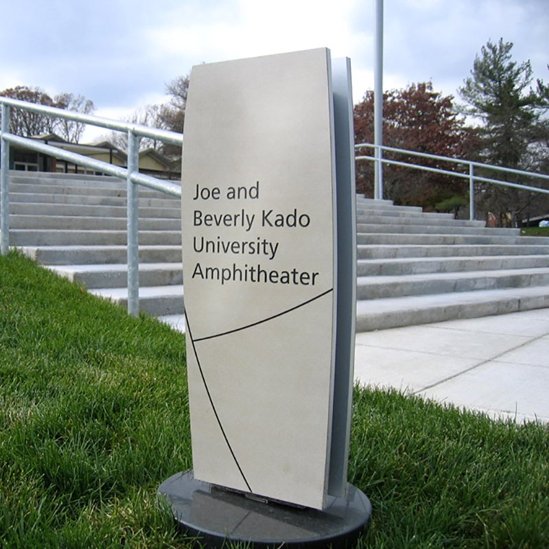 Outside donor plaque