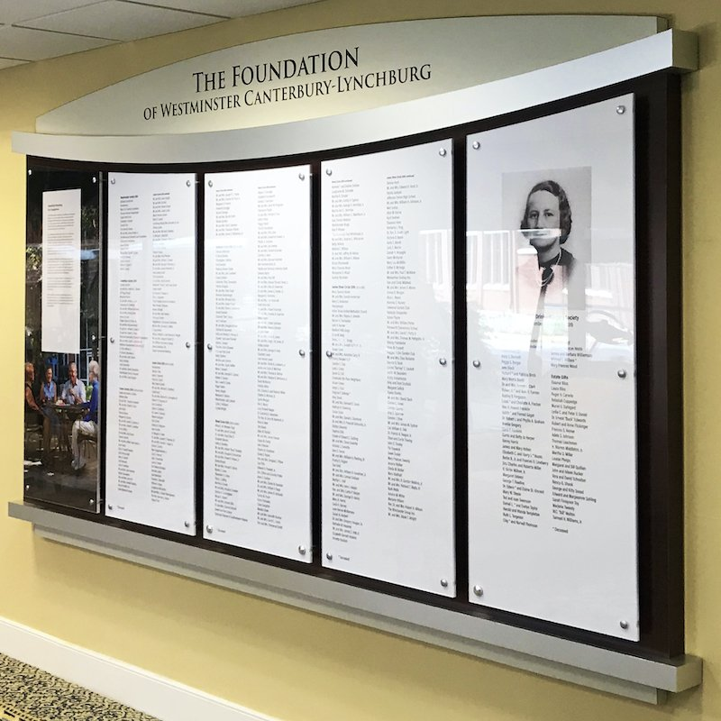Senior Living Donor Wall large