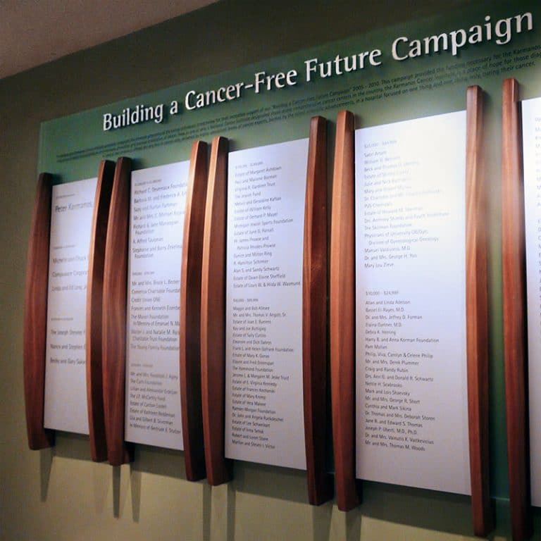 Custom Donor Wall - Hospital