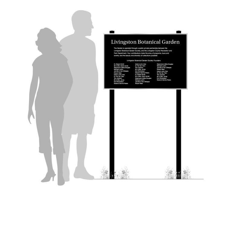 outdoor memorial plaque for exterior environments