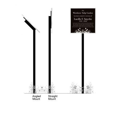 Memorial Garden Plaque - Engraved Metal