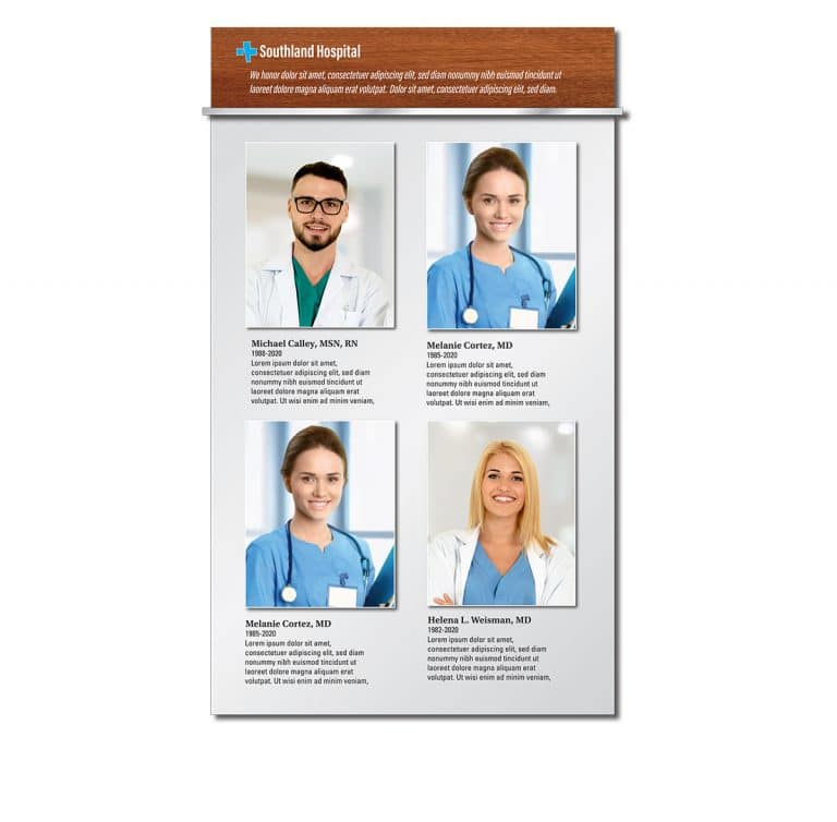 Nurse & Physician Recognition Wall