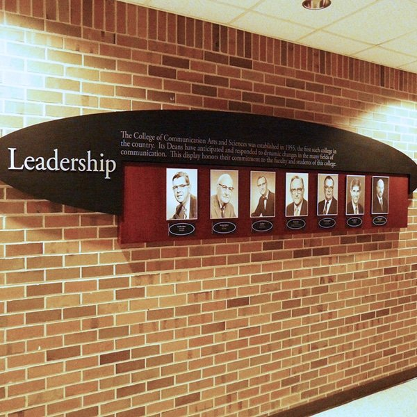 Leadership Recognition Wall