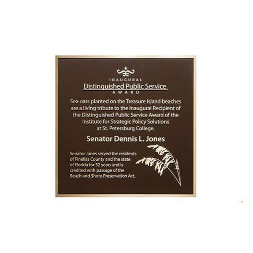 Bronze Plaque for Donors or Memorials