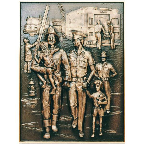 Cast Bronze Hero Plaque