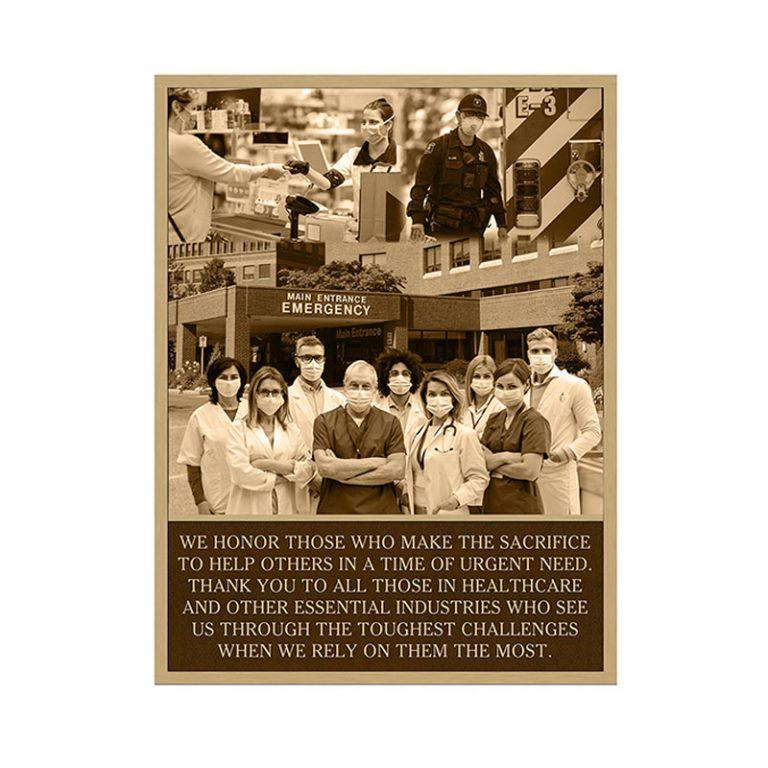 Essential-Healthcare worker plaque Main