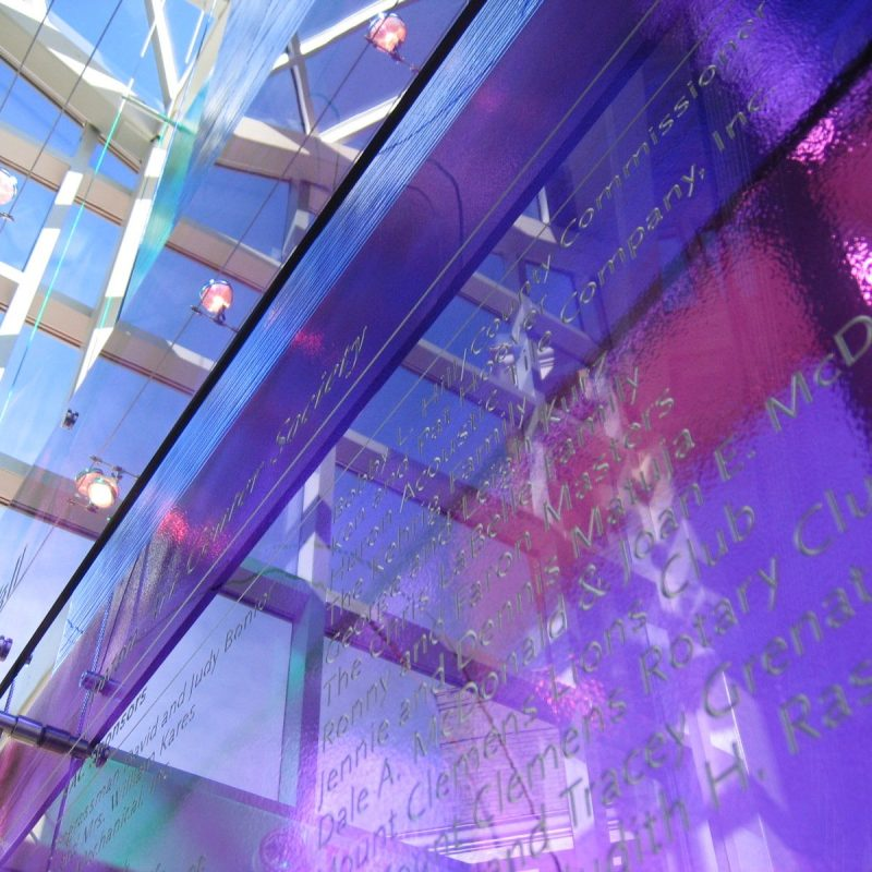 Anton Donor Wall Glass
