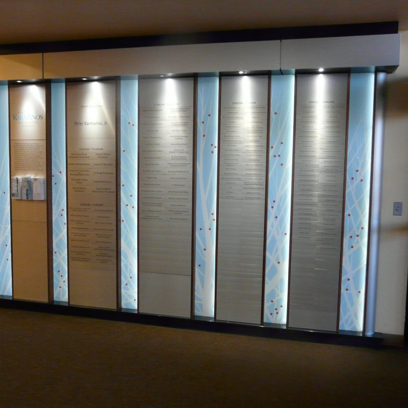 Stainless Steel Donor Wall